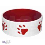 TRIXIE keramička činija za psa, crveno bela