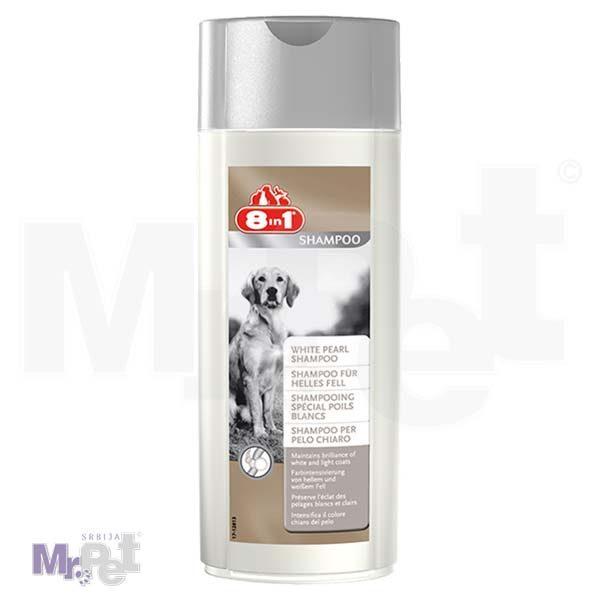 8 in 1 Šampon za pse WHITE PEARL 250 ml