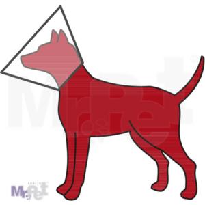 TRIXIE veterinarska plastična kragna sa čičak trakom