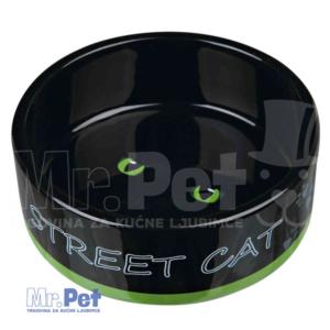 TRIXIE keramička činija za mačke Street Cat za mace