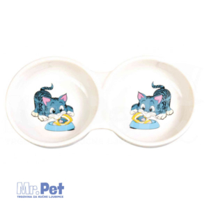 TRIXIE keramička činija za mačke Double Bowl