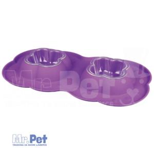 TRIXIE plastična činija za mačke Double Bowl Set