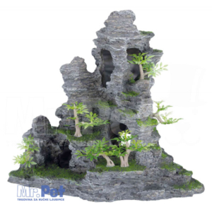 TRIXIE ukras za akvarijum, stena sa travom 31 cm