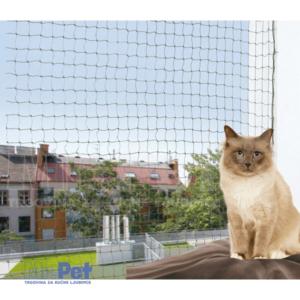 TRIXIE Protective Net armirana (ojačana žicom) zaštitna mrežica za prozor