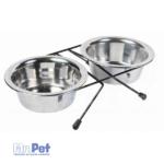 TRIXIE stalak + 2 rostfraj činije za pse Eat on Feet