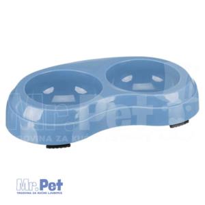 TRIXIE plastična činija za mačke Plastic Double Bowl