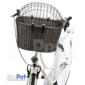 TRIXIE Front Bicycle Basket for Dogs pletena trasportna korpa za biciklu