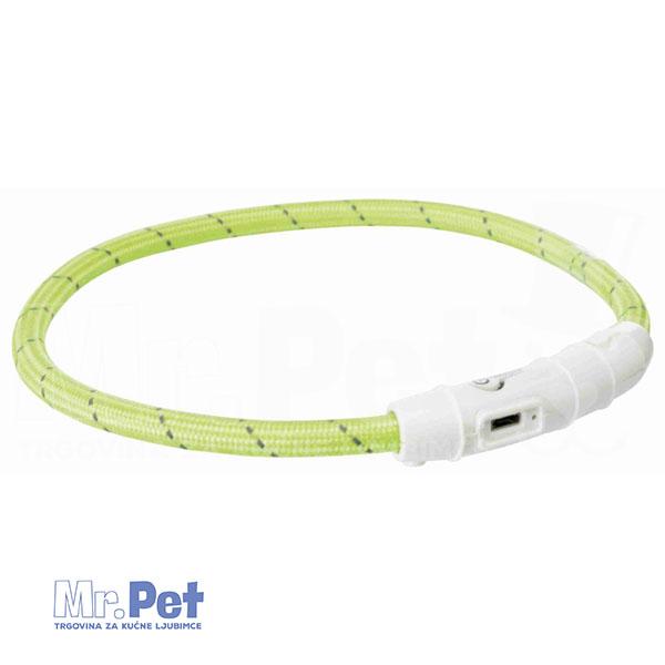 TRIXIE svetleća ogrlica za pse - USB M-L