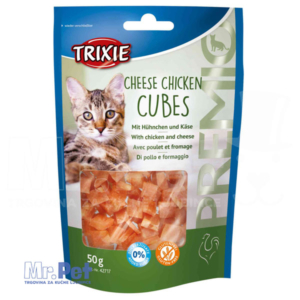 TRIXIE poslastica za mačke Cheese Chicken Cubes