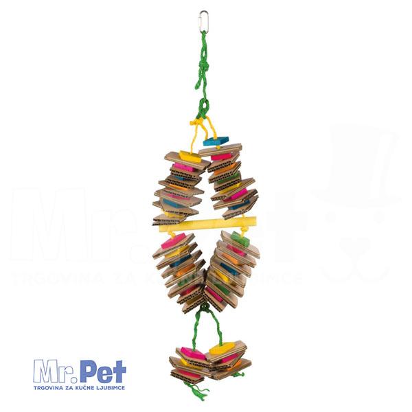 TRIXIE Wooden Toy with Sisal Rope igračka za ptice, 18 x 35 cm