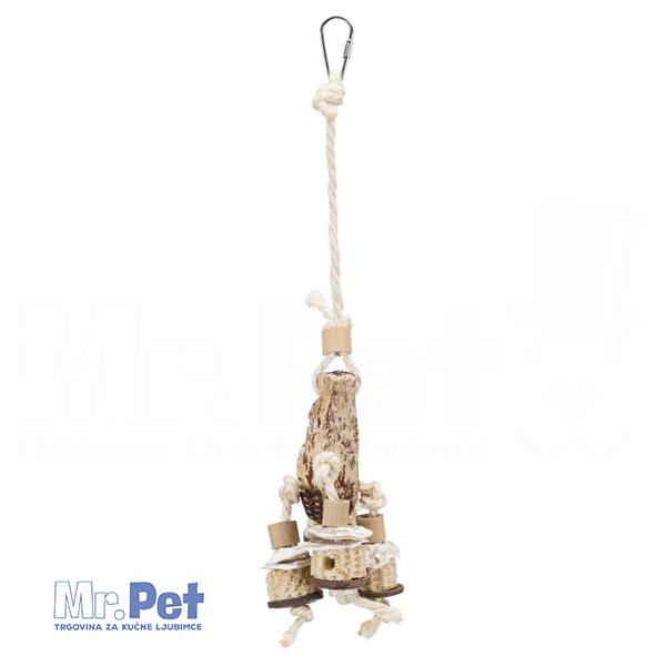 TRIXIE Natural Toy with Mahogany Pod igračka za ptice, 30 cm
