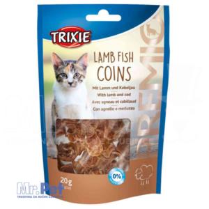 TRIXIE PREMIO Lamb Fish Coins poslastica za mace sa ukusom jagnjetine i ribe