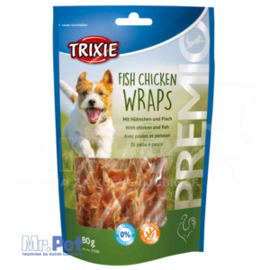 TRIXIE PREMIO Fish Chicken Wraps poslastica za pse sa ukusom piletine i ribe 80 g