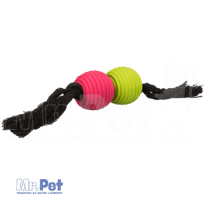 TRIXIE Playing Rope with Balls lopte na kanapu 32 cm