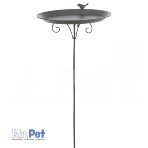 TRIXIE Water Bowl Water Bowl METALNA POJILICA, 1800ml/35 x 107 cm