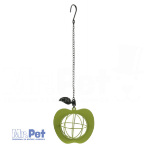 TRIXIE Fat Ball Feeder Apple metalna hranilica za ptice, 12 x 35  cm