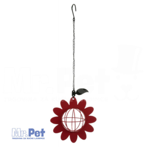 TRIXIE Fat Ball Feeder Flower metalna hranilica za ptice, 14 x 42  cm