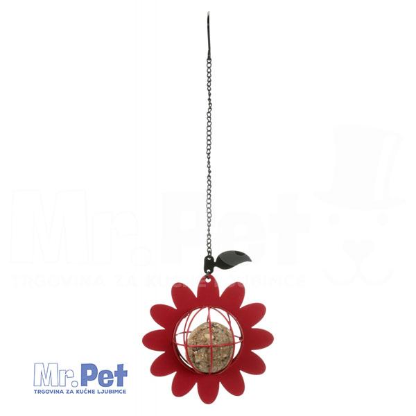 TRIXIE Fat Ball Feeder Flower metalna hranilica za ptice, 14 x 42  cm
