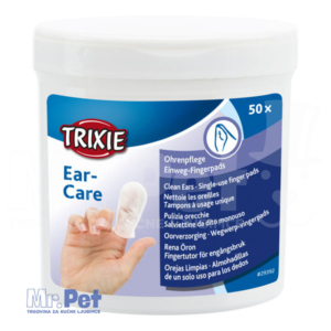TRIXIE Ear-CareSingle-use finger pads vlažne maramice za čišćenje ušiju 50 kom