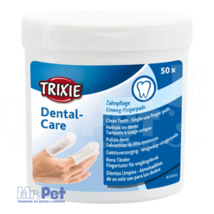 TRIXIE Dental-Care Single-use finger pads vlažne maramice za čišćenje zuba 50 kom