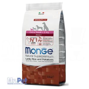 Monge hrana za pse minijaturnih rasa Speciality Extra Small Adult, jagnjetina, krompir i pirinač