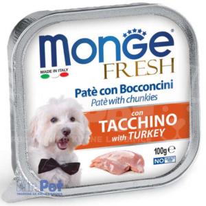 Monge pašteta za pse sa komadićima mesa Fresh Pate, 6 x 100 g
