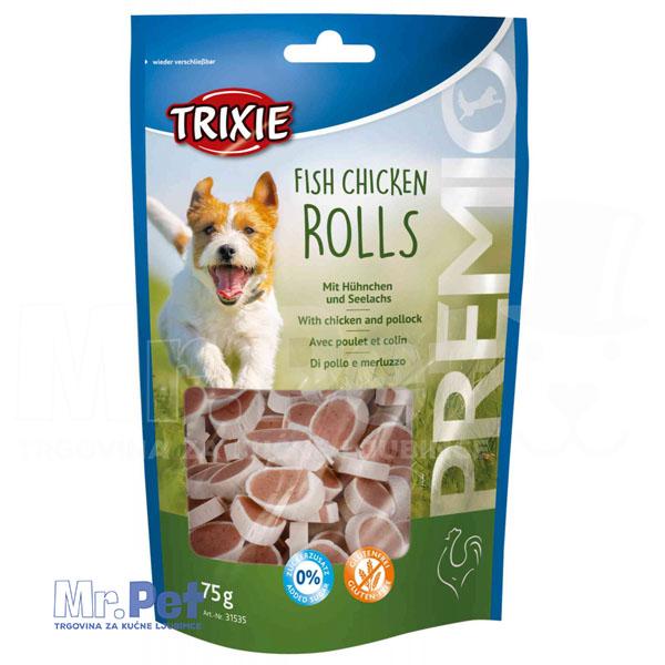 TRIXIE poslastica za pse PREMIO Fish Chicken Rolls