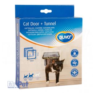 DUVO + 4-Way Flap Door with Tunnel vrata sa tunelom za mačke