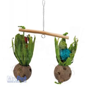 TRIXIE Seesaw with Coconuts igračka za ptice, 30 x 50 cm