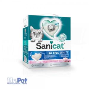 SANICAT Sanicat Active White Lotus grudvajući posip za mačji toalet, 6 l