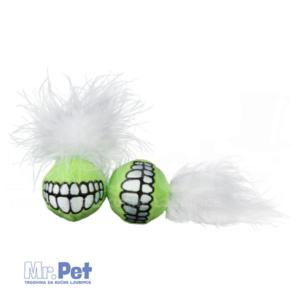 Rogz Comfort Plush Grinz Ball, S, igračka za mačke od pliša