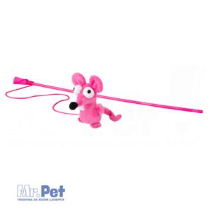 Rogz Teaser Plush Mouse Wand, S, zabavna igračka za mačke