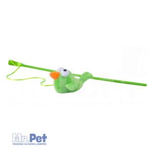 Rogz Teaser Plush Bird Wand, S, zabavna igračka za mačke