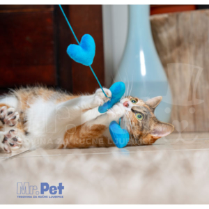 Rogz Teaser Plush Heart Wand, S, zabavna igračka za mačke