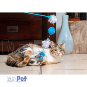Rogz Teaser Plush Grinz Ball Wand, S, zabavna igračka za mačke