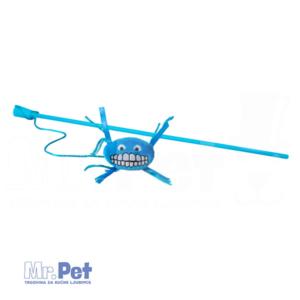 Rogz Teaser Plush Flossy Grinz Wand, S, zabavna igračka za mačke