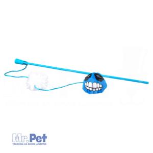 Rogz Teaser Plush Fluffy Grinz Wand, S, zabavna igračka za mačke