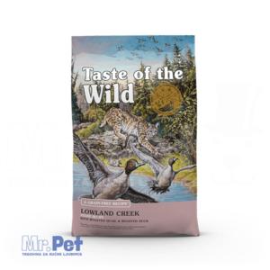 TASTE of the WILD Lowland Creek (Prepelica i divlja patka) hrana za mačke - 2 kg