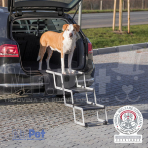 TRIXIE 3-step folding steps, aluminium/TPR aluminijska rampa/stepenice za pse