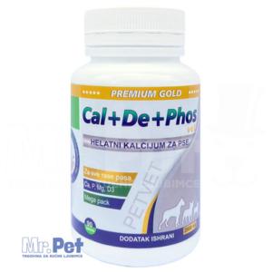 Kalcijum za pse – Cal+De+Phos Vet Premium Gold 2000 mg/90 tbl